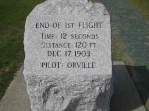 Wright Brothers Marker