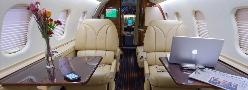 Private Jet Charter Quiet Cabins